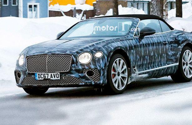 Кабриолет Bentley Continental GTиспытывают снегом(ФОТО)