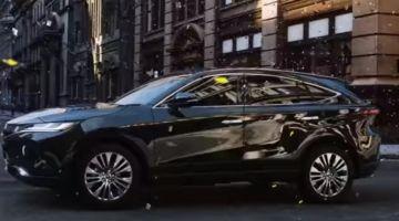 Toyota Harrier четвертой генерации показали на видео