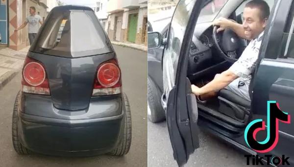 В сети показали самый узкий автомобиль в мире