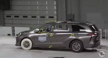 Toyota Sienna 2021 года получила максимальный балл за безопасность от IIHS (ВИДЕО)