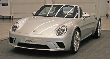 Изображения спортивной версии Porsche 550one в ретро-стиле появились в сети