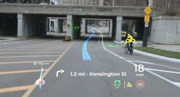 Экран Panasonic научили предупреждать о велосипедистах и мостах