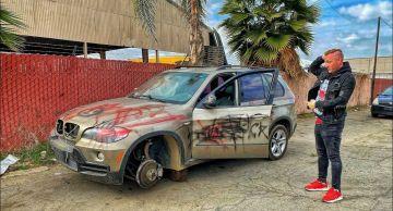 Блогеры купили за 750 долларов старый разобранный BMW X5 и превратили его в новый (ВИДЕО)