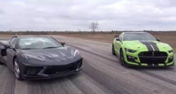 Ford Mustang Shelby и Chevrolet Corvette C8 сразились в дрэге (ВИДЕО)